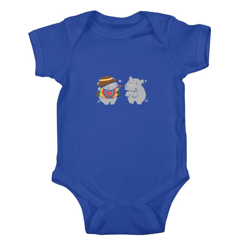 Hippypotamus Kids Baby Bodysuit by Steven Toang
