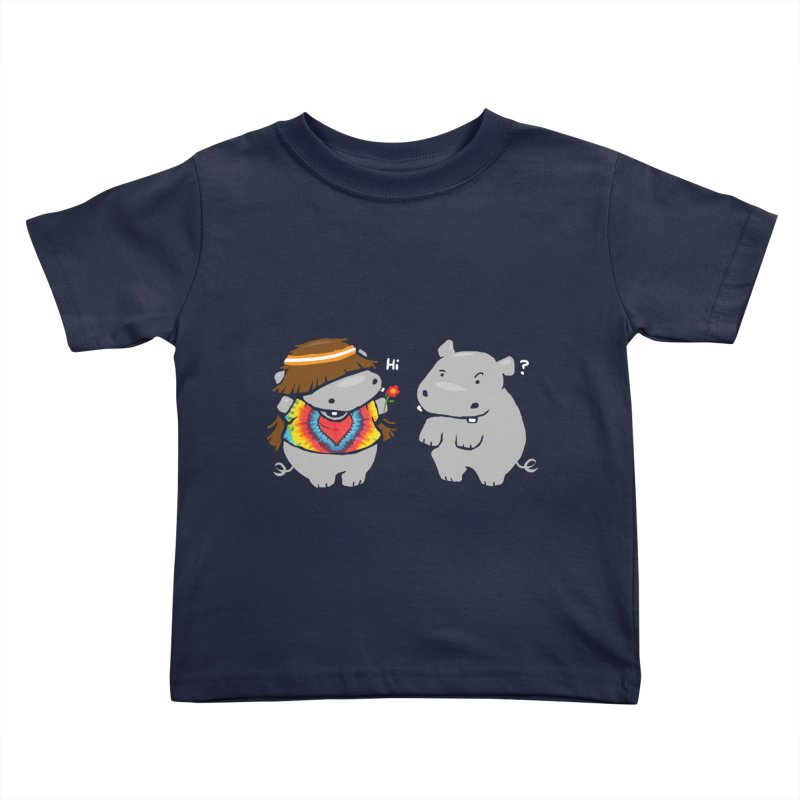 Hippypotamus Kids Toddler T-Shirt by Steven Toang