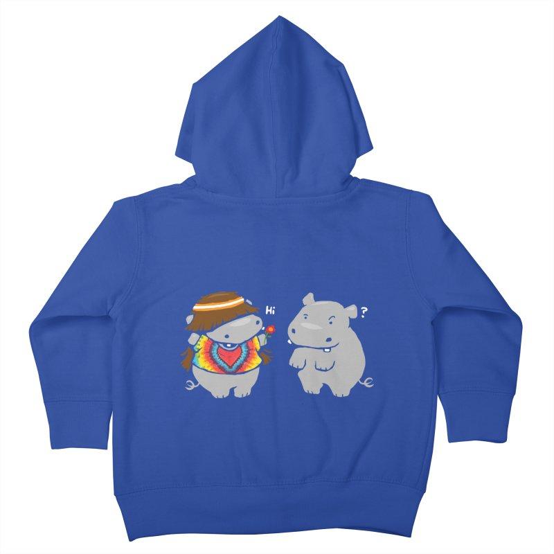 Hippypotamus Kids Toddler Zip-Up Hoody by Steven Toang