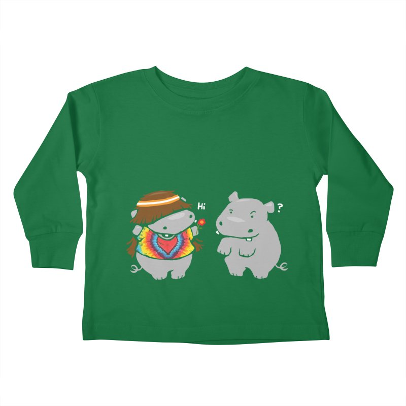 Hippypotamus Kids Toddler Longsleeve T-Shirt by Steven Toang