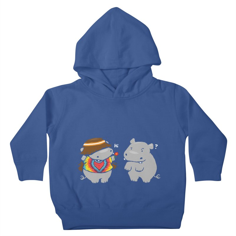 Hippypotamus Kids Toddler Pullover Hoody by Steven Toang