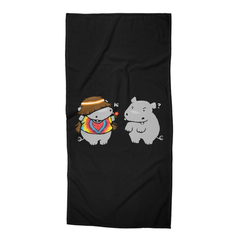 Hippypotamus Accessories Beach Towel by Steven Toang