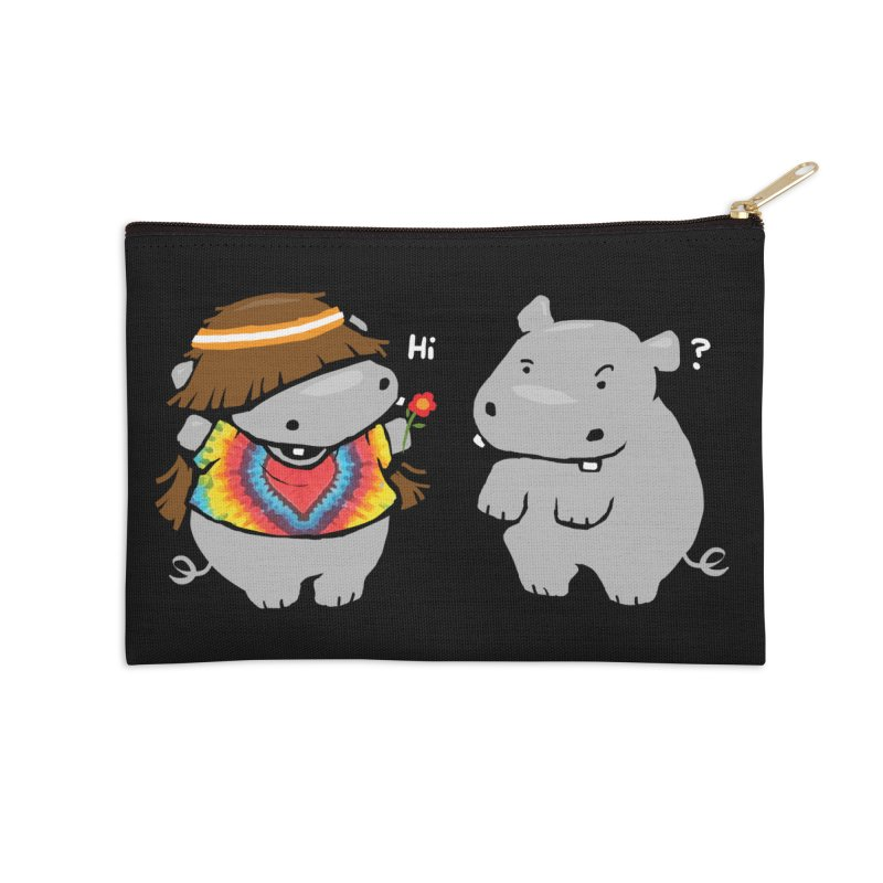 Hippypotamus Accessories Zip Pouch by Steven Toang