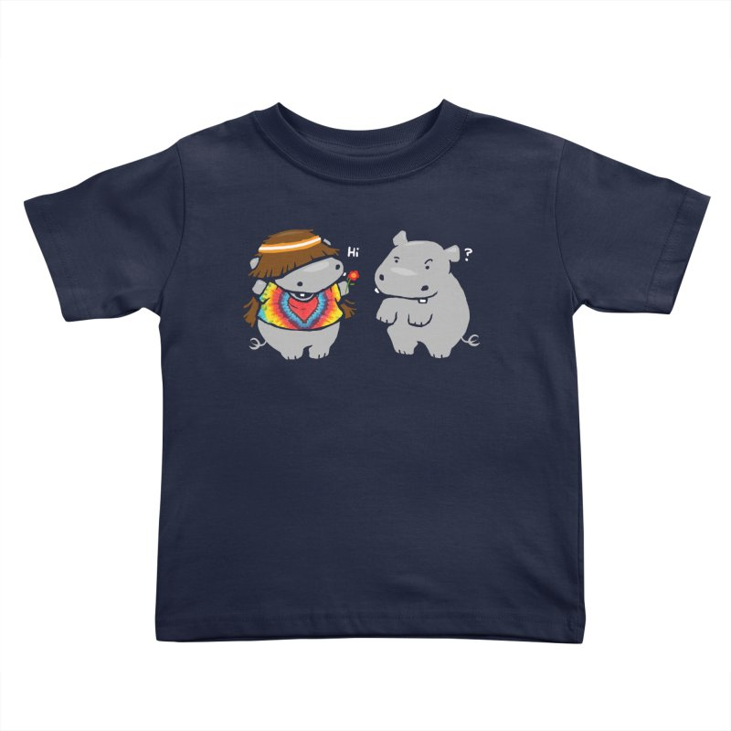 Hippypotamus Kids Toddler T-Shirt by Steven Toang