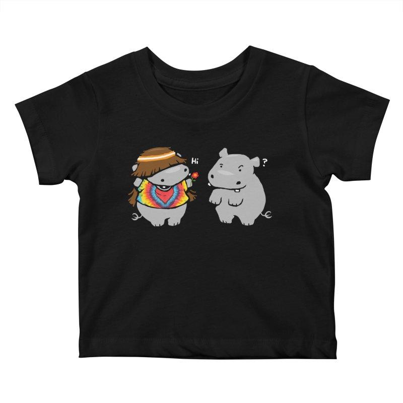 Hippypotamus Kids Baby T-Shirt by Steven Toang