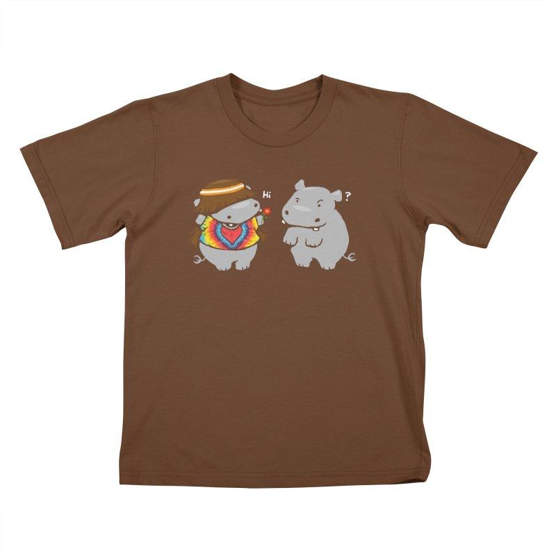 Hippypotamus Kids T-Shirt by Steven Toang