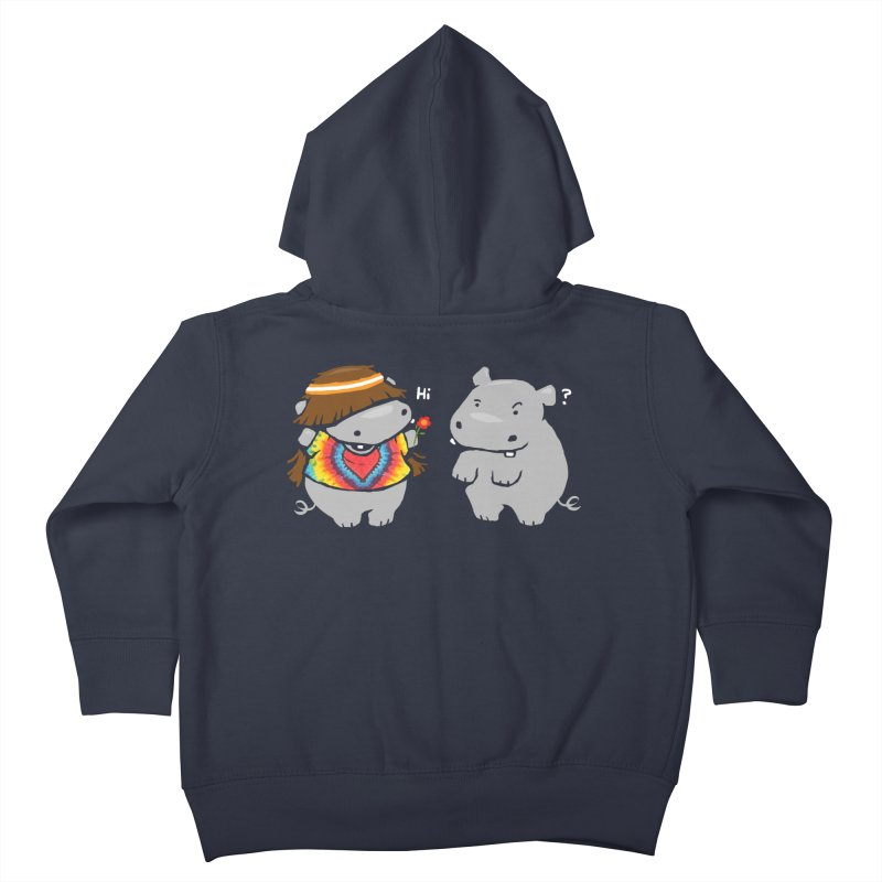 Hippypotamus Kids Toddler Zip-Up Hoody by Steven Toang