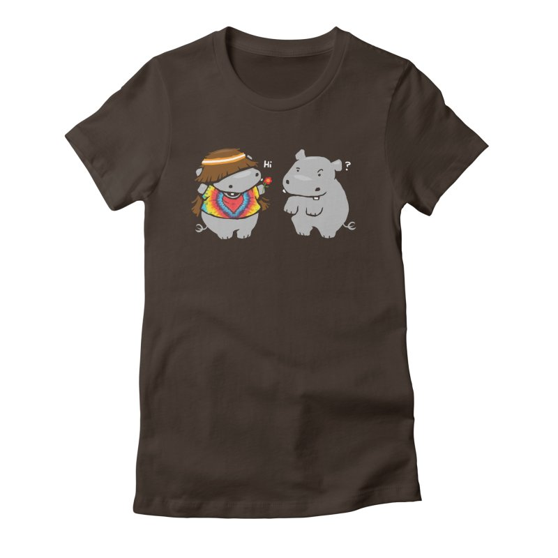 Hippypotamus Women's Fitted T-Shirt by Steven Toang