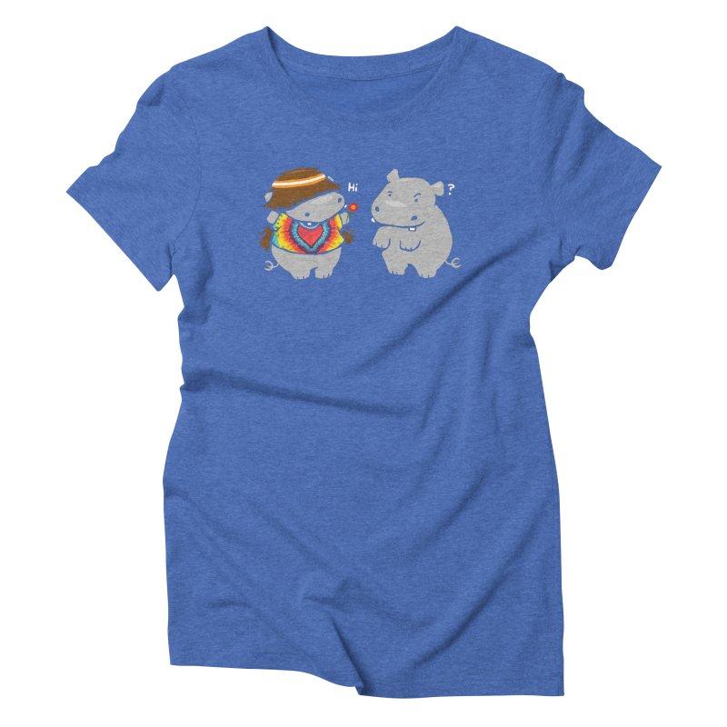 Hippypotamus Women's Triblend T-Shirt by Steven Toang