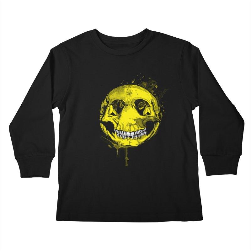 Happy Boney Kids Longsleeve T-Shirt by Steven Toang