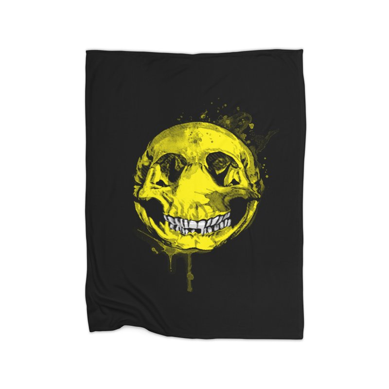 Happy Boney Home Fleece Blanket Blanket by Steven Toang
