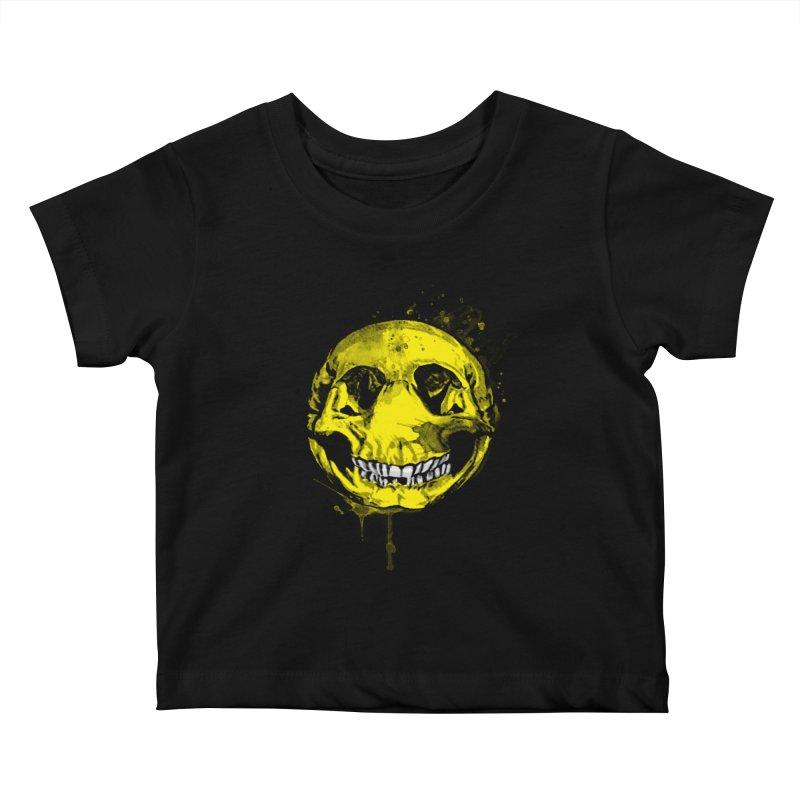 Happy Boney Kids Baby T-Shirt by Steven Toang