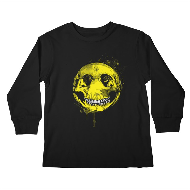 Happy Boney Kids Longsleeve T-Shirt by Steven Toang