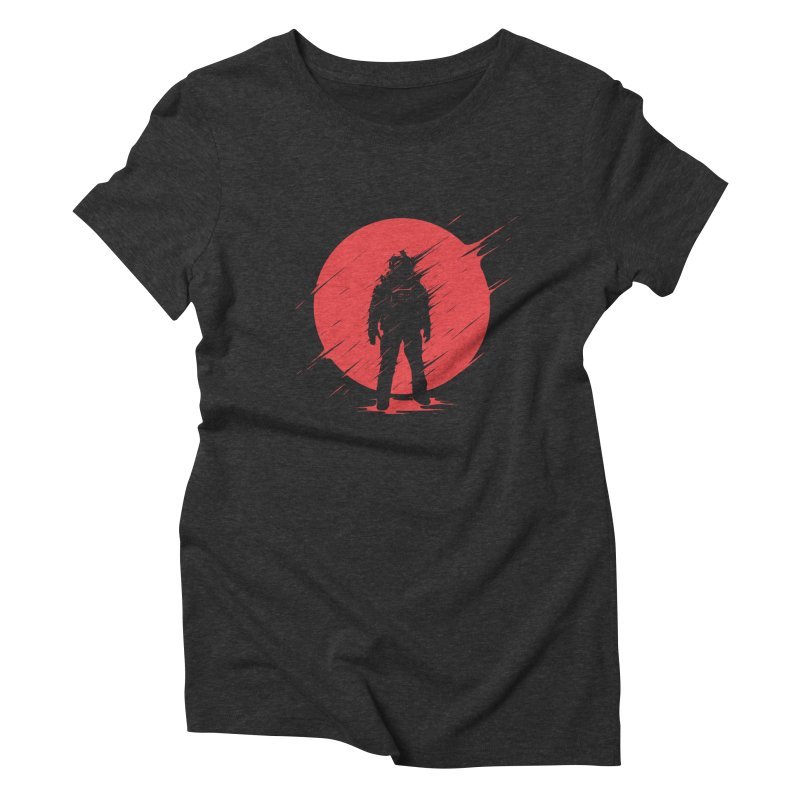 Red Sphere Women's Triblend T-shirt by Steven Toang