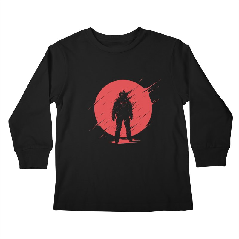 Red Sphere Kids Longsleeve T-Shirt by Steven Toang