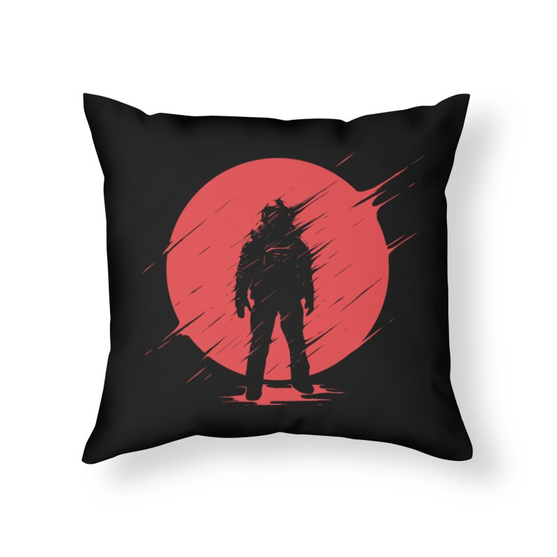 Red Sphere Home Throw Pillow by Steven Toang