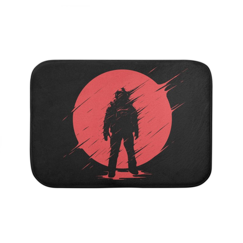 Red Sphere Home Bath Mat by Steven Toang