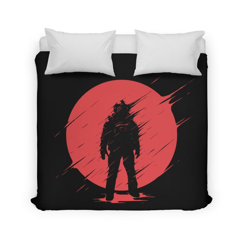 Red Sphere Home Duvet by Steven Toang