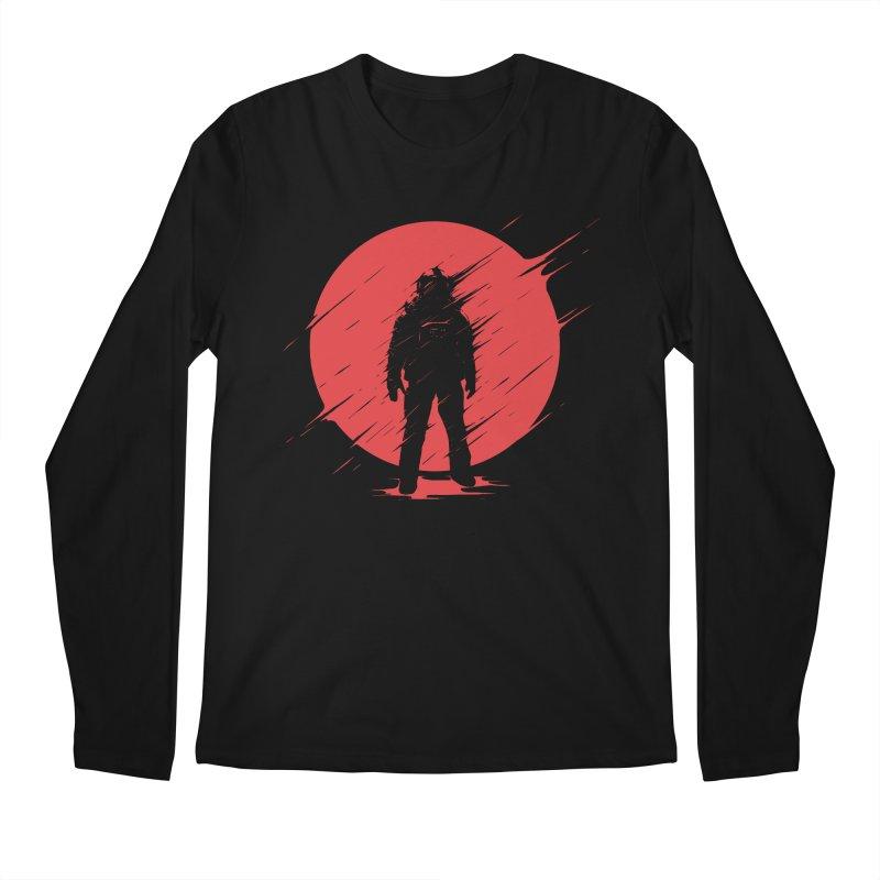 Red Sphere Men's Longsleeve T-Shirt by Steven Toang