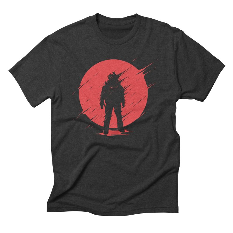 Red Sphere Men's Triblend T-Shirt by Steven Toang
