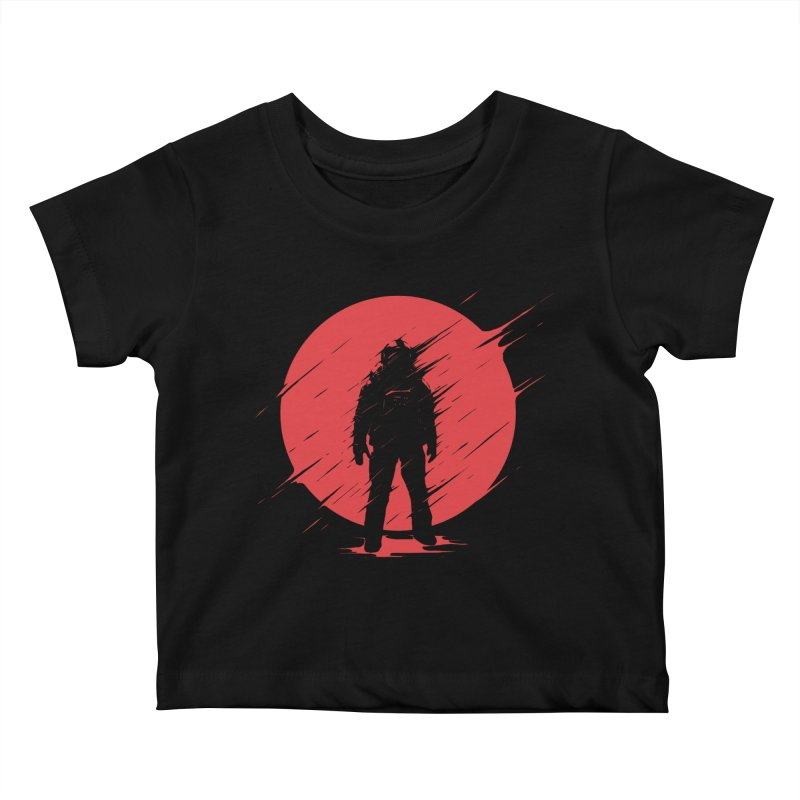 Red Sphere Kids Baby T-Shirt by Steven Toang