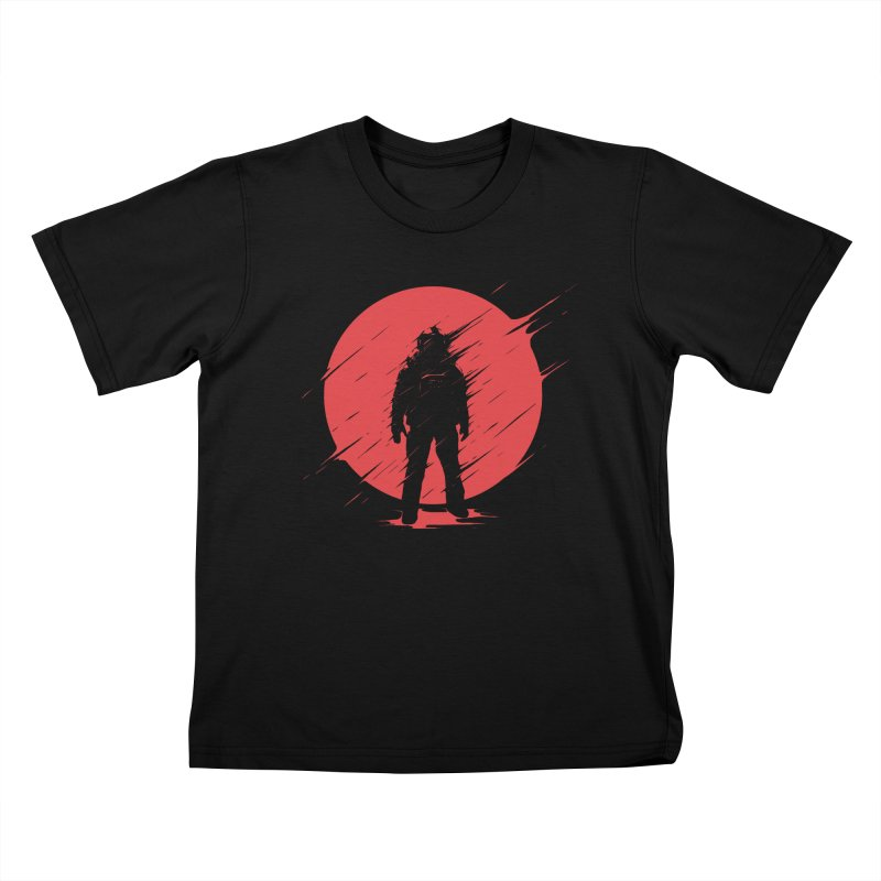 Red Sphere Kids T-Shirt by Steven Toang