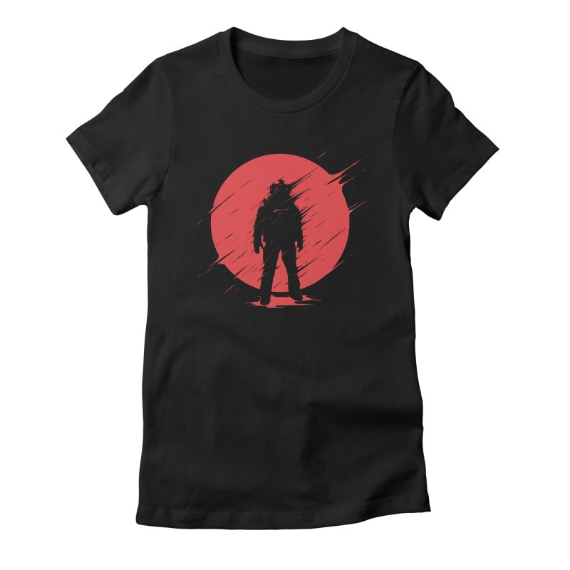 Red Sphere Women's Fitted T-Shirt by Steven Toang