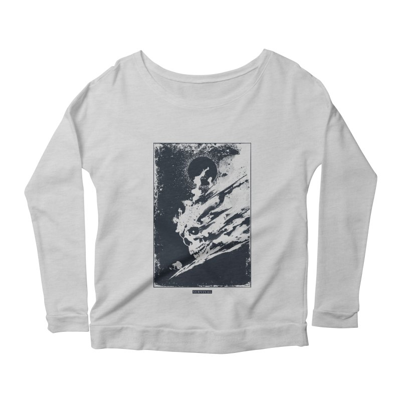 Survival Women's Longsleeve Scoopneck  by Steven Toang