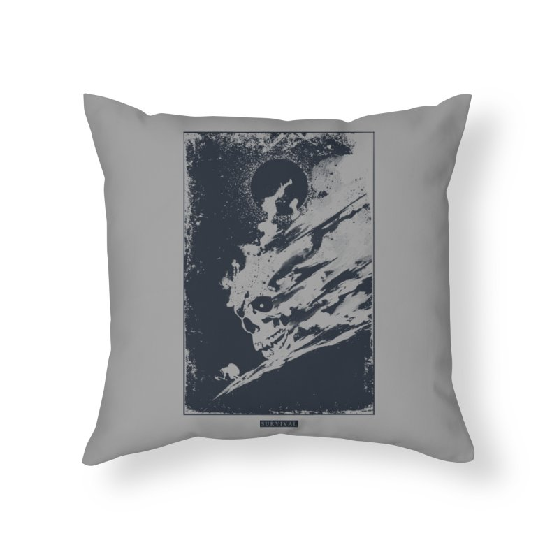 Survival Home Throw Pillow by Steven Toang