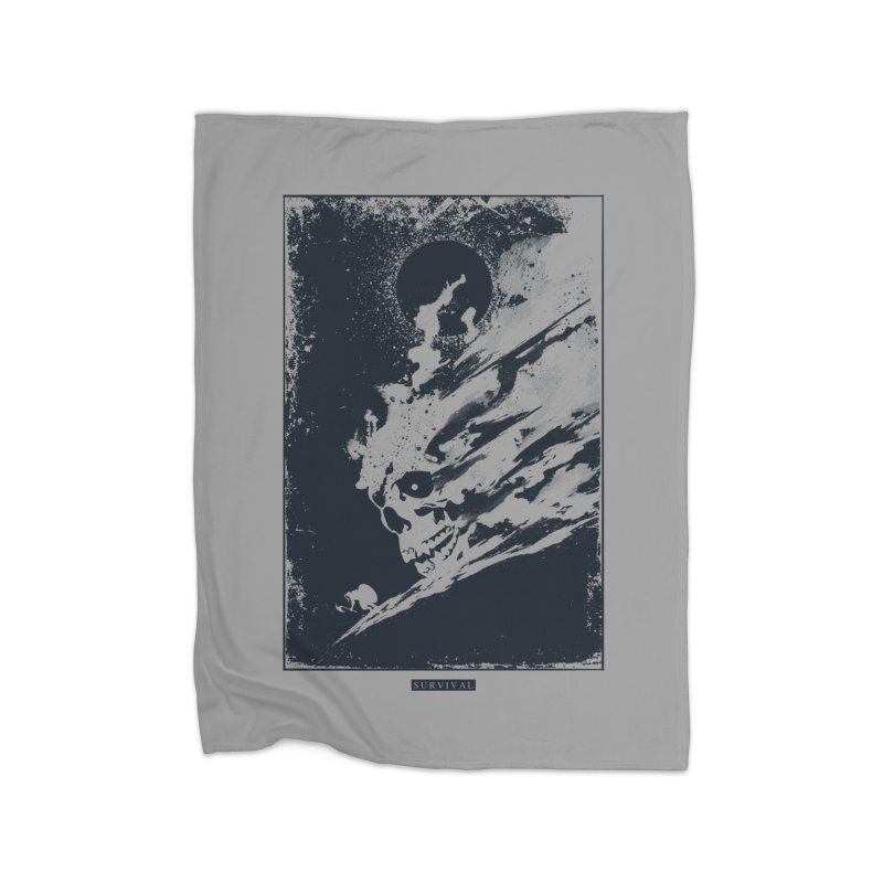 Survival Home Fleece Blanket by Steven Toang