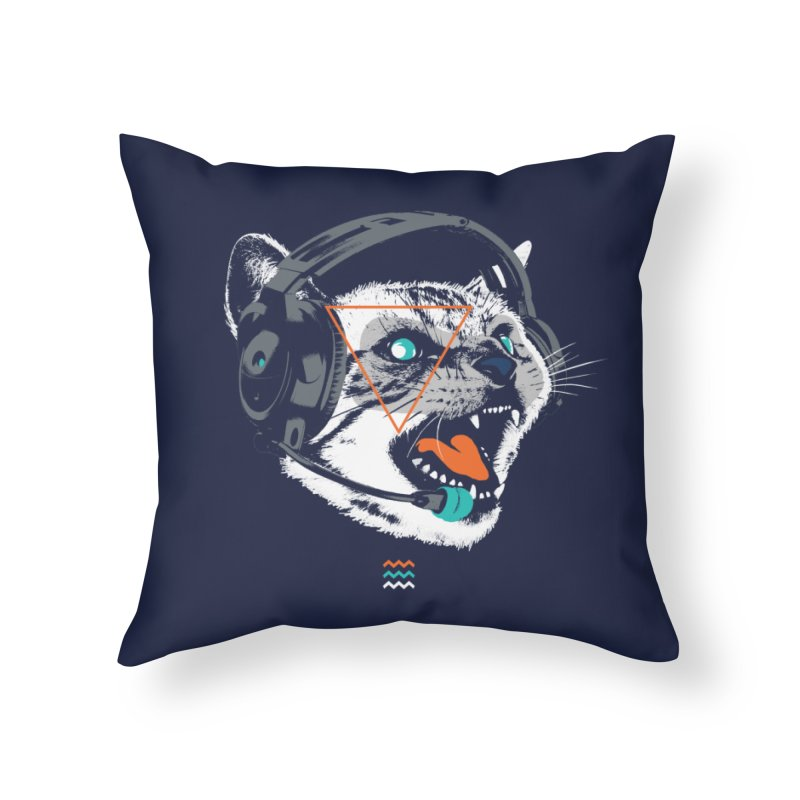 Stereocat Home Throw Pillow by Steven Toang