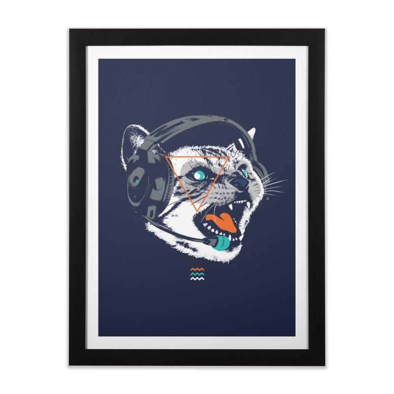 Stereocat Home Framed Fine Art Print by Steven Toang