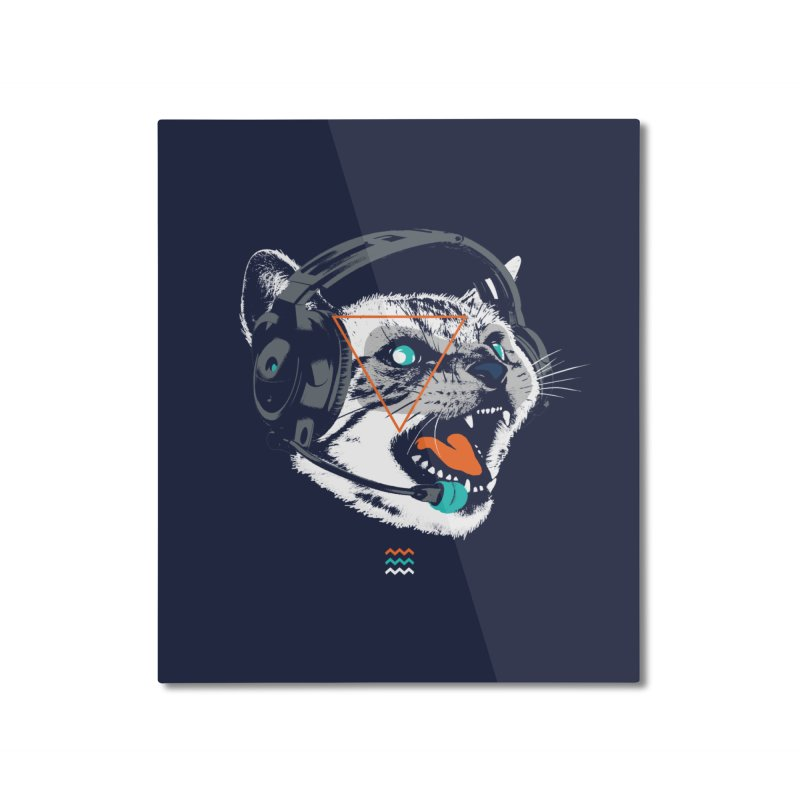 Stereocat Home Mounted Aluminum Print by Steven Toang