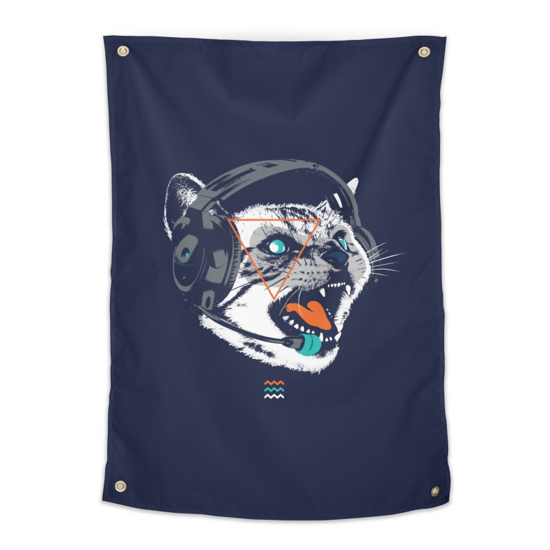 Stereocat Home Tapestry by Steven Toang
