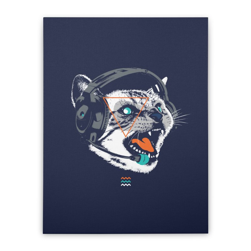 Stereocat Home Stretched Canvas by Steven Toang