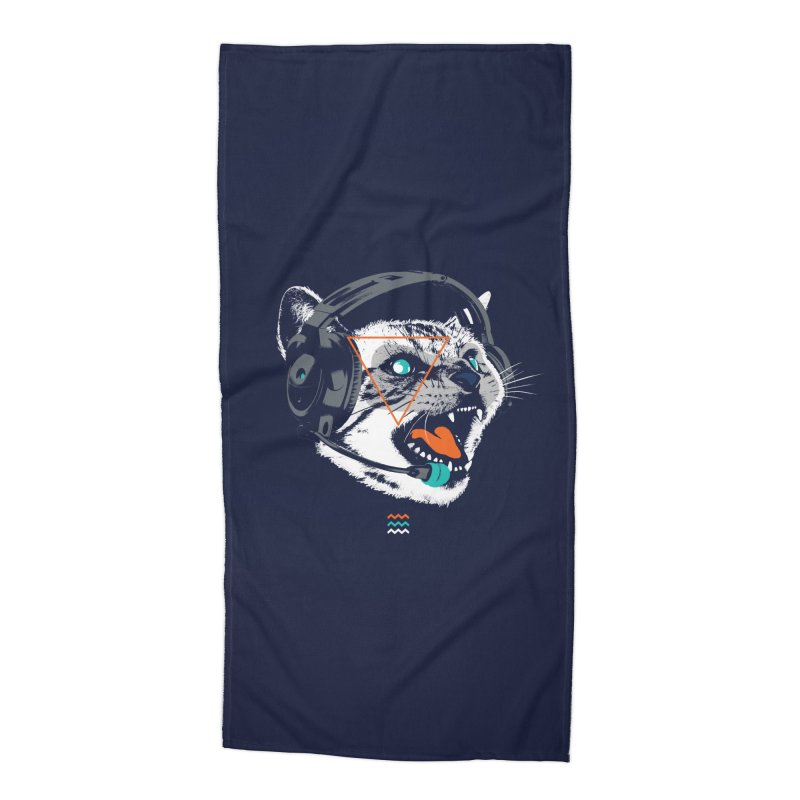 Stereocat Accessories Beach Towel by Steven Toang