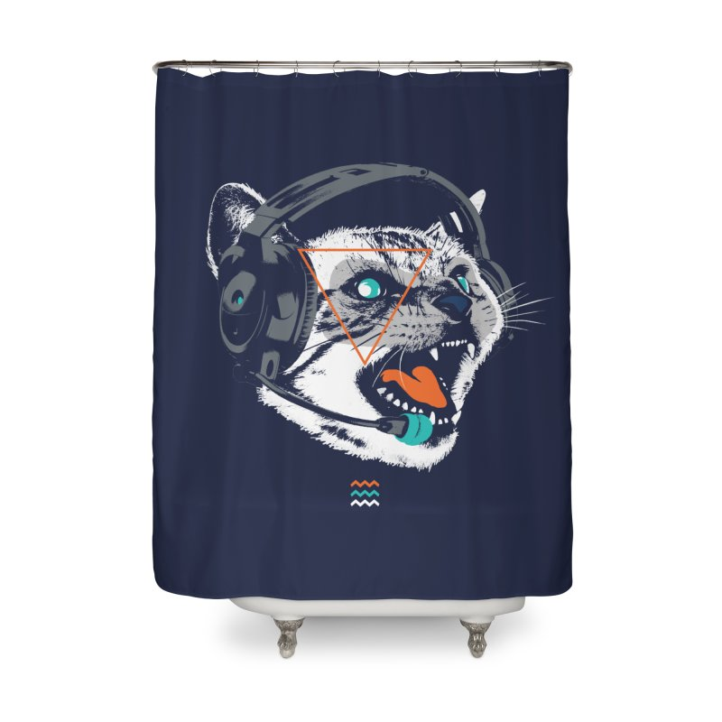 Stereocat Home Shower Curtain by Steven Toang