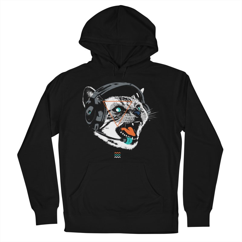 Stereocat Men's Pullover Hoody by Steven Toang