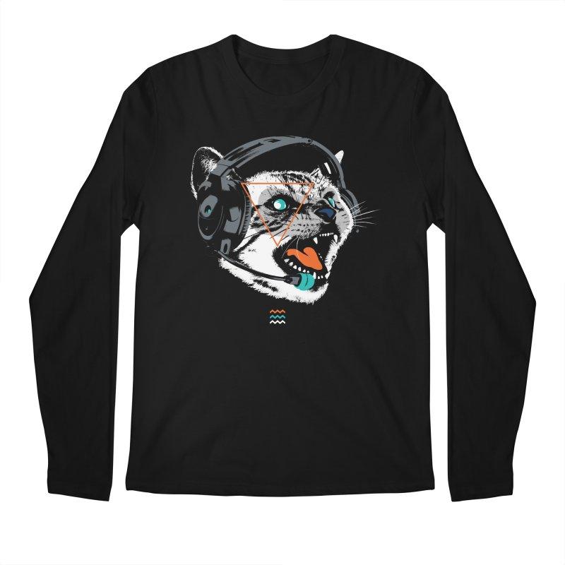 Stereocat Men's Longsleeve T-Shirt by Steven Toang