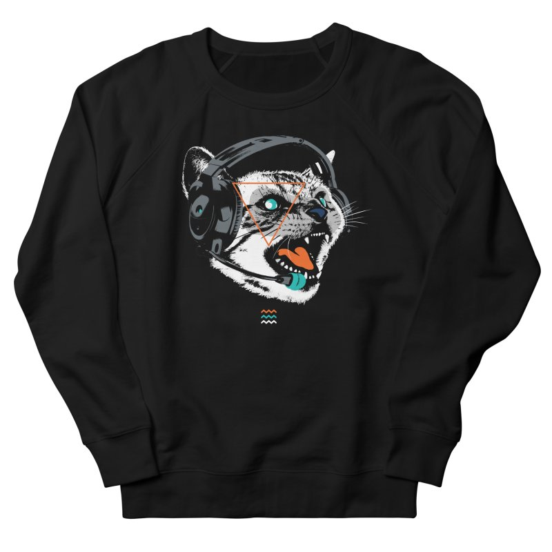 Stereocat Women's French Terry Sweatshirt by Steven Toang