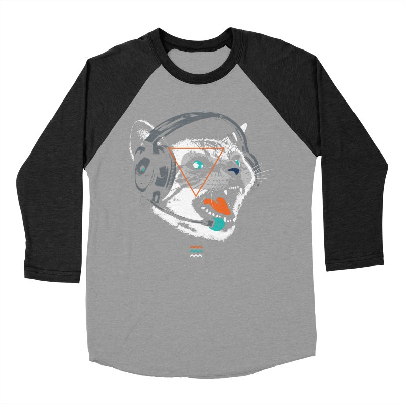 Stereocat Women's Baseball Triblend Longsleeve T-Shirt by Steven Toang