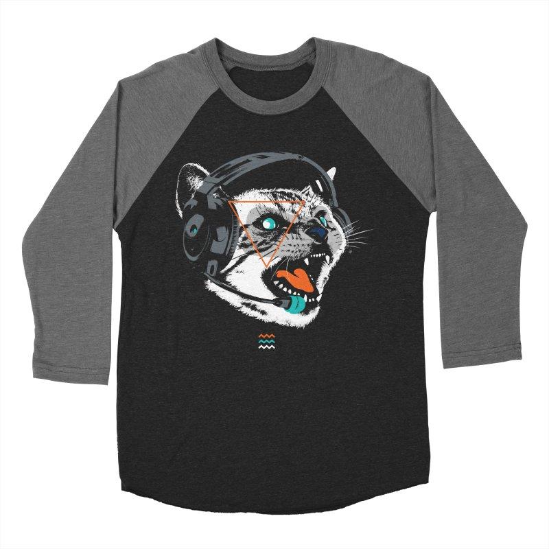 Stereocat Men's Baseball Triblend T-Shirt by Steven Toang