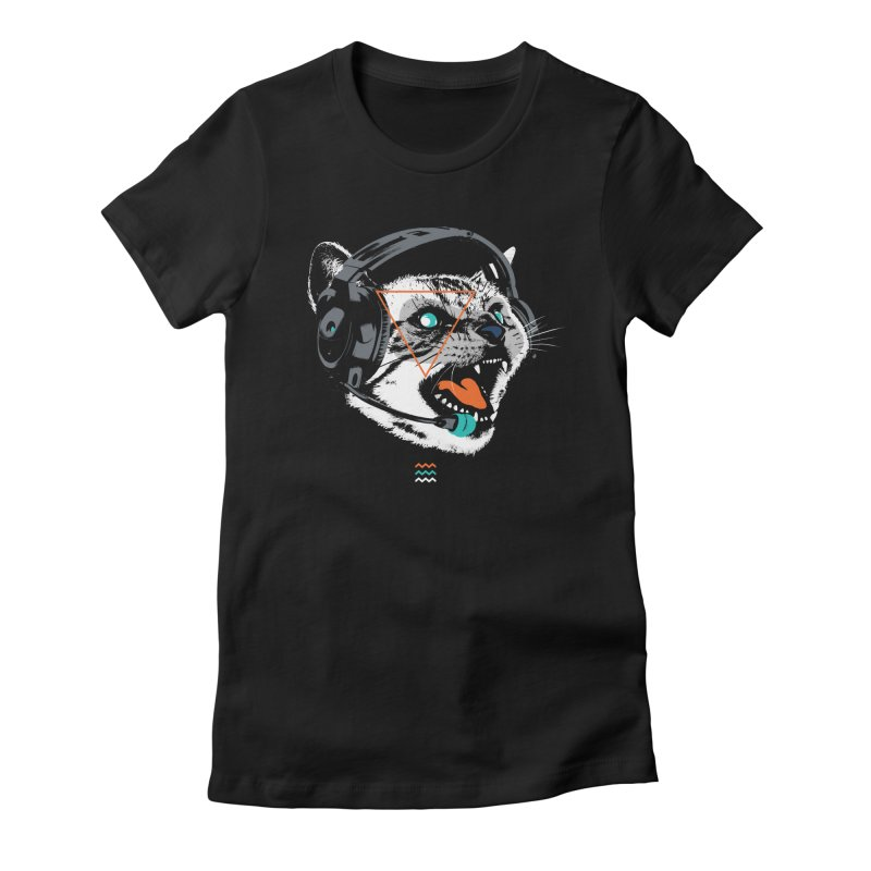 Stereocat Women's Fitted T-Shirt by Steven Toang