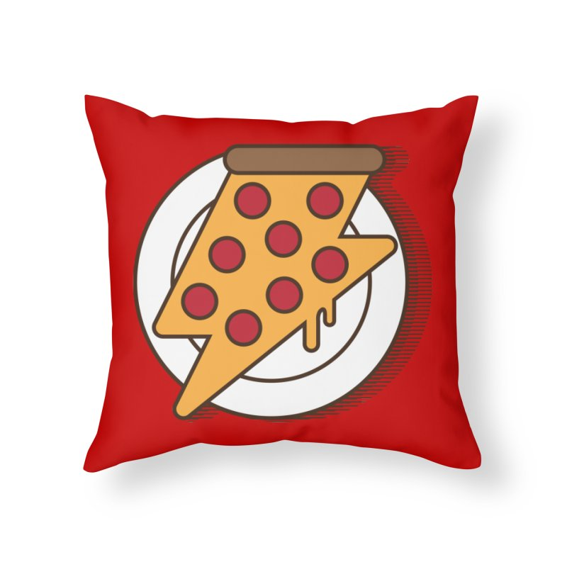 Fast Pizza Home Throw Pillow by Steven Toang