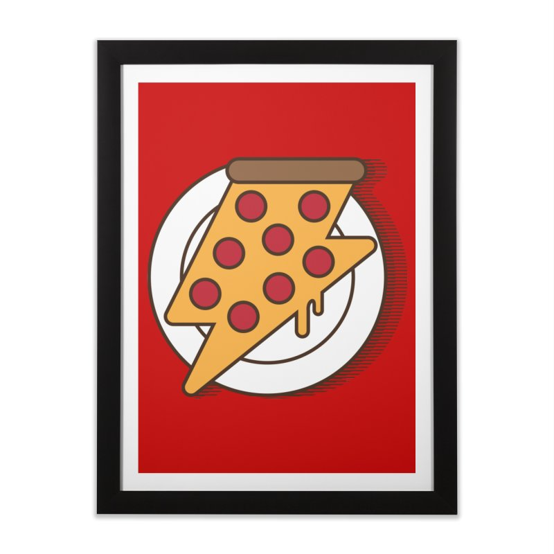Fast Pizza Home Framed Fine Art Print by Steven Toang