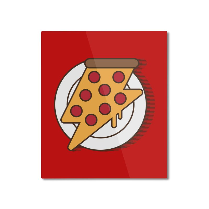 Fast Pizza Home Mounted Aluminum Print by Steven Toang