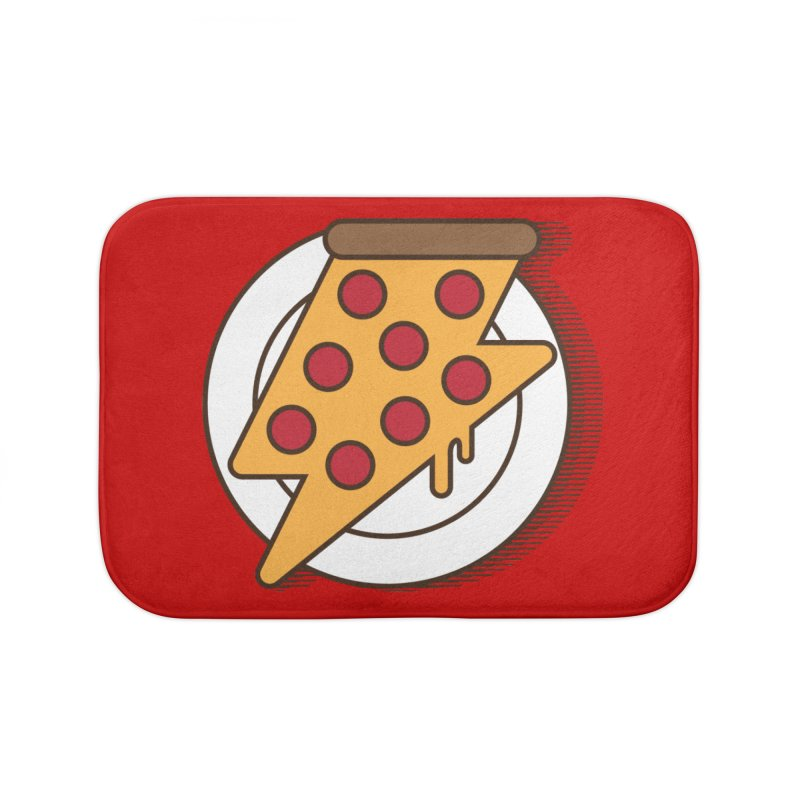 Fast Pizza Home Bath Mat by Steven Toang