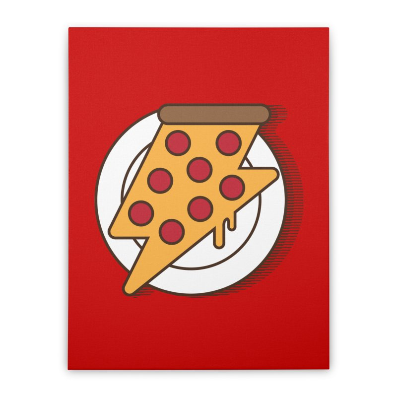 Fast Pizza Home Stretched Canvas by Steven Toang