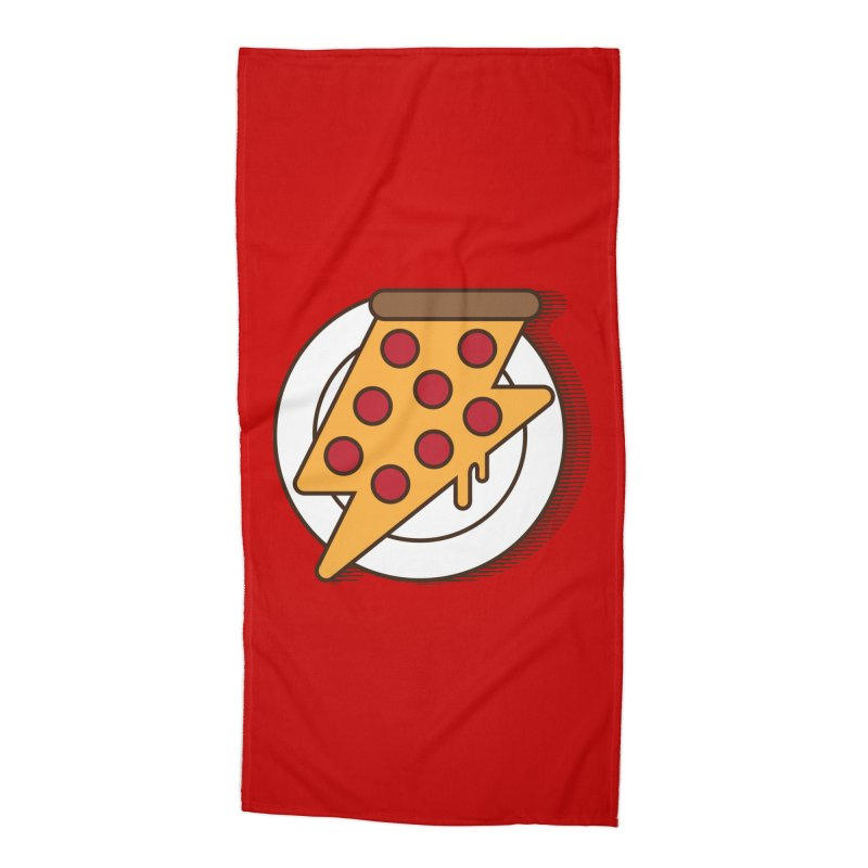 Fast Pizza Accessories Beach Towel by Steven Toang