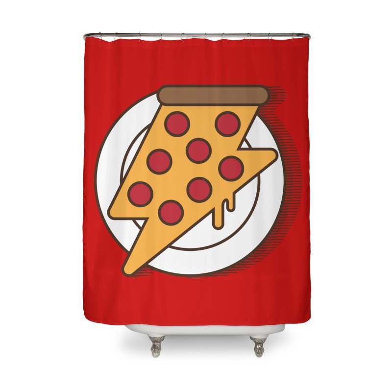 Fast Pizza Home Shower Curtain by Steven Toang